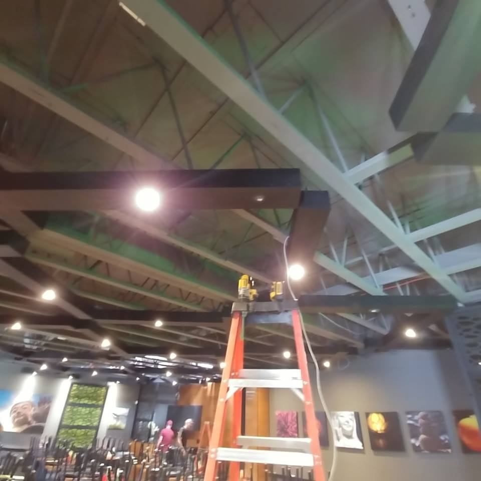 Process of Installing Ceiling Surveillance Camera, Rio Low Voltage, Albuquerque, NM