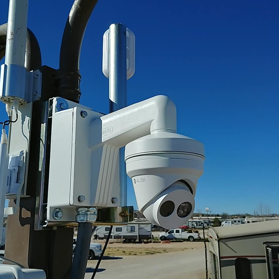 Surveillance Camera on Post, Rio Low Voltage, Albuquerque, NM