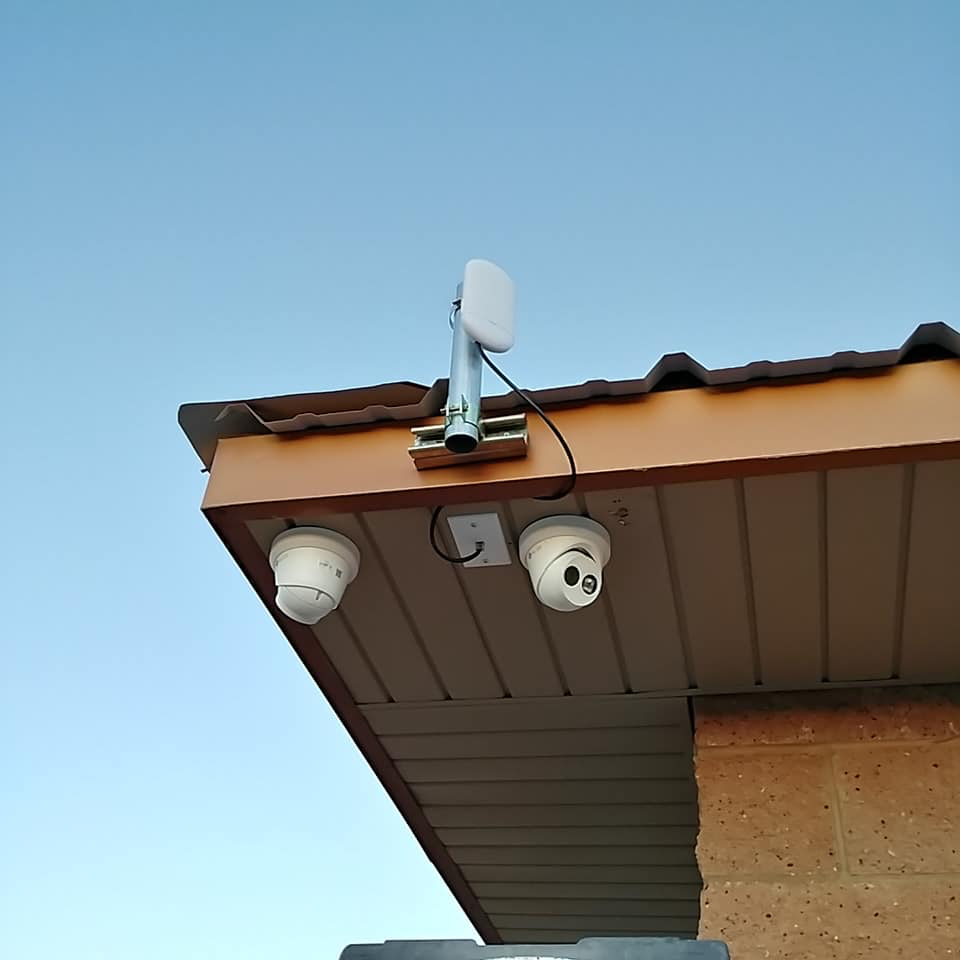 Surveillance Camera on Building, Rio Low Voltage, Albuquerque, NM