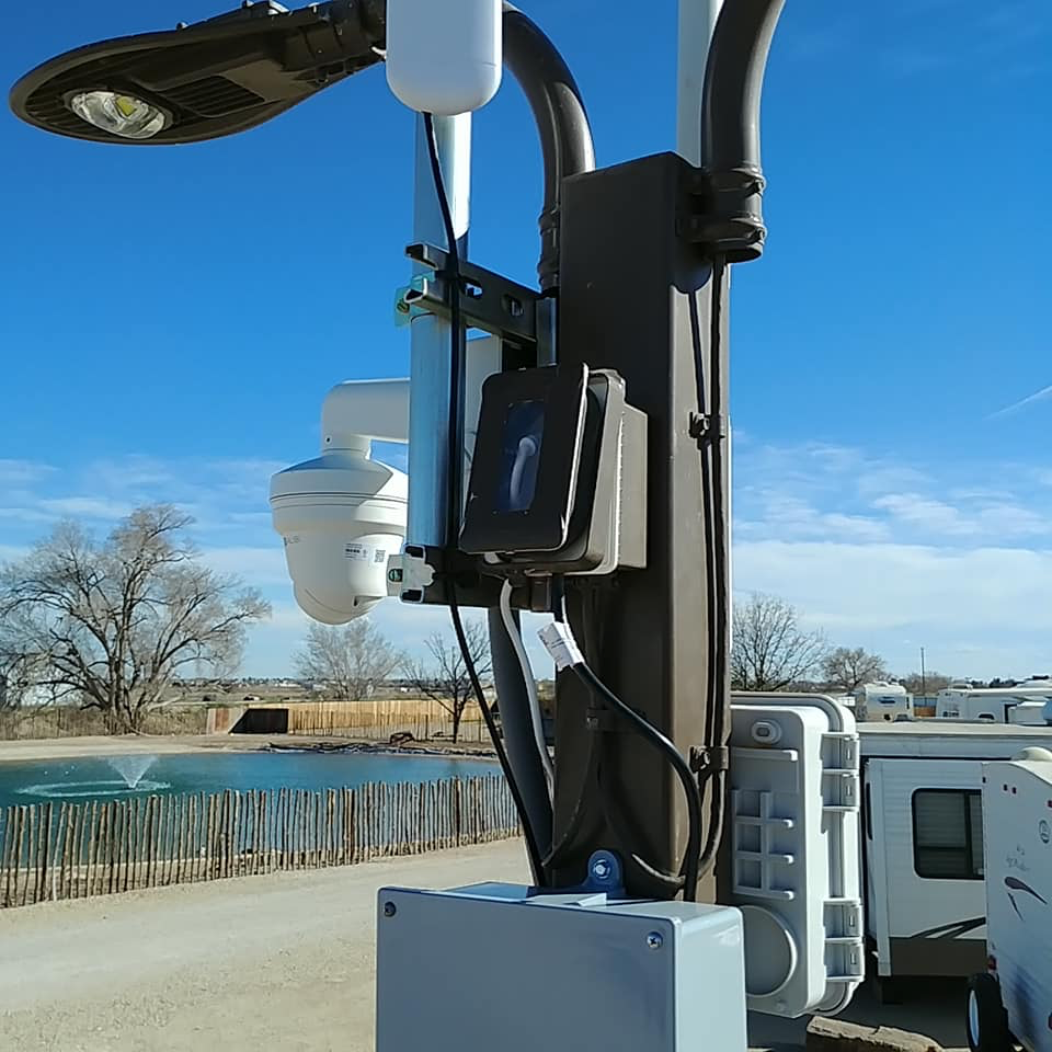 Surveillance Camera Setup on Post, Rio Low Voltage, Albuquerque, NM
